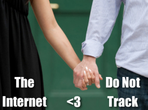 The Internet and Do Not Track holding hands