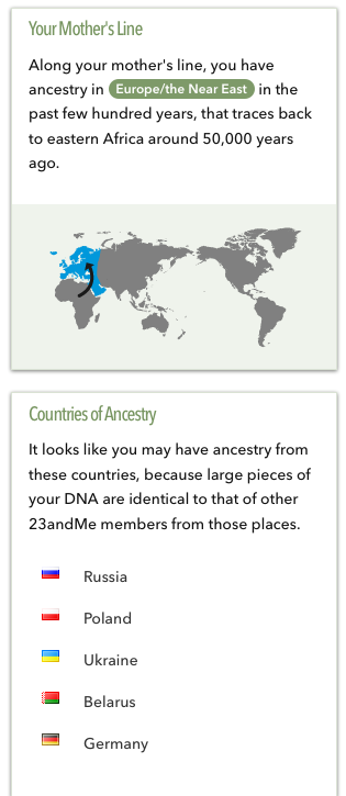 23andme country results