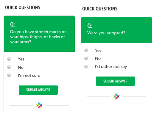 23andme optional questions