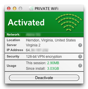 private wifi VPN