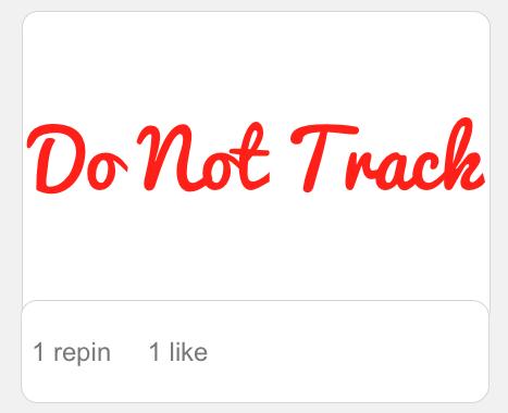 Pinterest Do Not Track